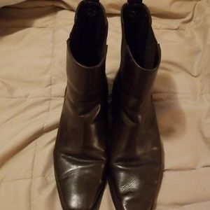Genuine Leather Women's Lands End 9.5 half boot